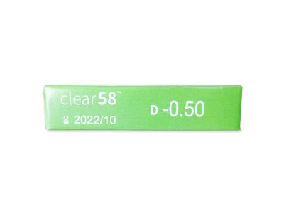 Clear 58 (6lentes)
