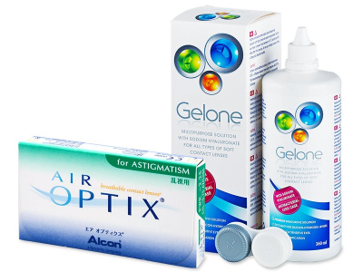 Air Optix for Astigmatism (6 lentes) + Solução Gelone 360 ml