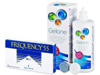 Frequency 55 (6lentes) +Solução Gelone360ml