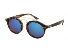 Óculos de Sol Infantil Alensa Panto Havana Espelhado Azul