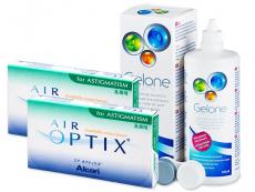 Air Optix for Astigmatism (2x3lentes) +Solução Gelone360ml