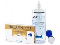 Frequency 55 Aspheric (6lentes) +Solução Laim-Care400ml