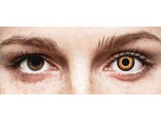Lentes de Contacto Crazy Lens Lobisomem Laranja Orange Werewolf - ColourVUE (2 lentes)