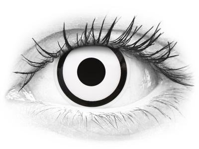 Lentes de Contacto Crazy Lens Zumbi Branco White Zoombie - ColourVUE (2 lentes)
