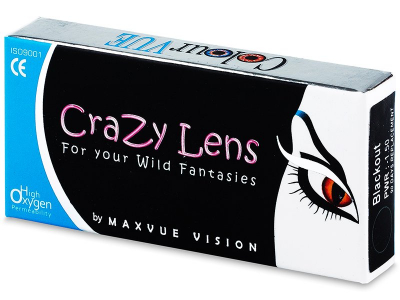Lentes de Contacto Crazy Lens Vermelho Red Devil com correção - ColourVUE (2 lentes)