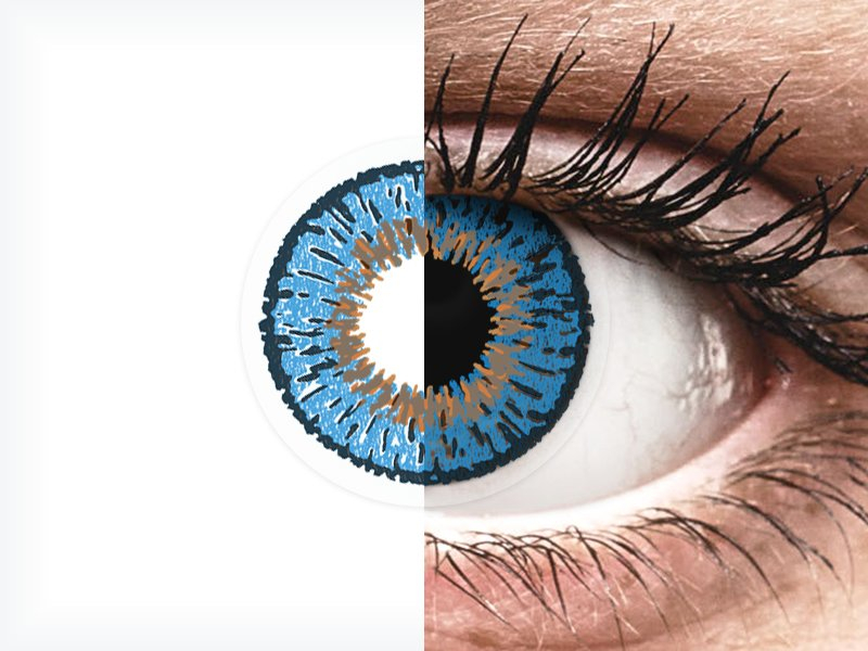 Lentes de Contacto Expressions Colors Azul Escuro (1 lente)