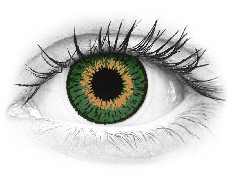 Lentes de Contacto Expressions Colors Verde com correção (1 lente)