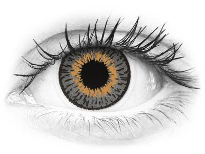 Lentes de Contacto Expressions Colors Cinza com correção (1 lente)