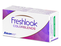 FreshLook ColorBlends Brilliant Blue - sem correção (2 lentes)