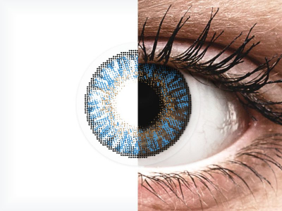 FreshLook ColorBlends True Sapphire - com correção (2 lentes)