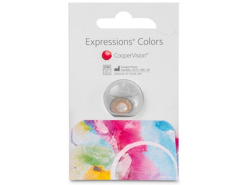 Lentes de Contacto Expressions Colors Marrom com correção (1 lente)