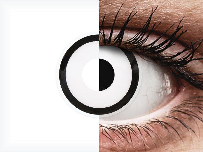 Lentes de Contacto Diárias Crazy Lens Zumbi Branco - ColourVUE (2 lentes)