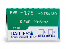 Dailies AquaComfort Plus Toric (30 lentes)