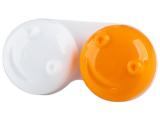 alensa.pt - Lentes de contacto - Estojo para lentes de contacto 3D - Laranja