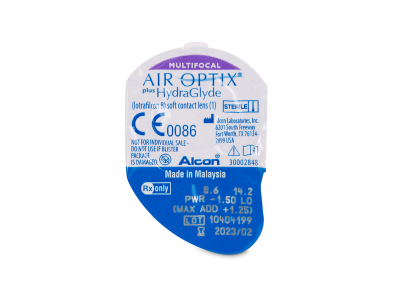 Air Optix plus HydraGlyde Multifocal (3 lentes)