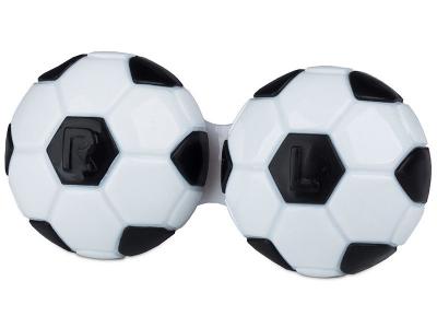 Estojo para lentes de contacto futebol - Preto