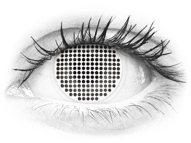 Lentes de Contacto Crazy Lens Tela Branca White Screen - ColourVUE (2lentes)