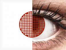 Lentes de Contacto Crazy Lens Tela Vermelha Red Screen - ColourVUE (2lentes)