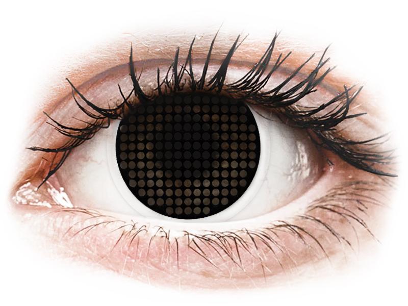 Lentes de Contacto Crazy Lens Tela Preta Black Screen - ColourVUE (2lentes)