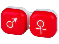 alensa.pt - Lentes de contacto - Estojo para lentes de contacto homem e senhora - Vermelho