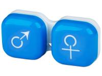 alensa.pt - Lentes de contacto - Estojo para lentes de contacto homem e senhora - Azul