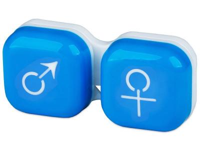 Estojo para lentes de contacto homem e senhora - Azul