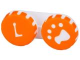 "alensa.pt - Lentes de contacto - Estojo para lentes de contacto ""Pata"" Laranja"
