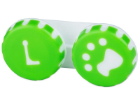 "alensa.pt - Lentes de contacto - Estojo para lentes de contacto ""Pata"" Verde"
