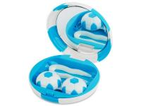 """alensa.pt - Lentes de contacto - Caixa com espelho para lentes """"Futebol"""" - Azul"""