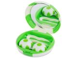 """alensa.pt - Lentes de contacto - Caixa com espelho para lentes """"Futebol"""" - Verde"""