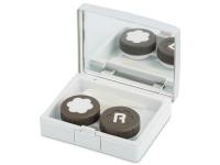 alensa.pt - Lentes de contacto - Caixa elegante com espelho para lentes - Prateado