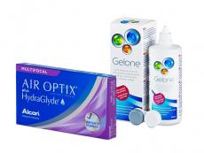 Air Optix plus HydraGlyde Multifocal (6 lentes) + Solução Gelone 360 ml