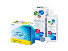 PureVision 2 for Presbyopia (6 lentes) + Solução Gelone 360 ml