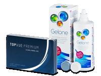 TopVue Premium (6 lentes) +  Solução Gelone 360 ml