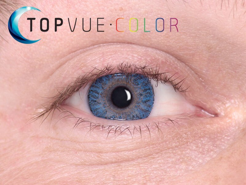 True Sapphire on blue eye