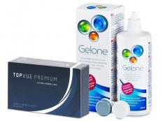 TopVue Premium (12 lentes) + Solução Gelone 360 ml