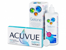 Acuvue Oasys with Transitions (6 lentes) + Solução Gelone 360 ml