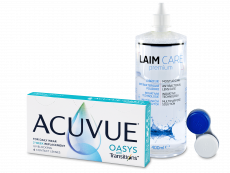 Acuvue Oasys with Transitions (6 lentes) + Solução Laim-Care 400 ml