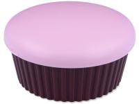 Estojo de lente com espelho Cupcake - Rosa