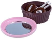 alensa.pt - Lentes de contacto - Estojo de lente com espelho Cupcake - Rosa