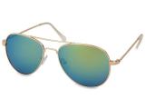 alensa.pt - Lentes de contacto - Óculos de Sol Aviador Dourado - Azul/Verde