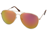 alensa.pt - Lentes de contacto - Óculos de Sol Pilot Dourado - Rosa/Laranja