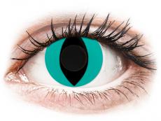 CRAZY LENS - Cat Eye Aqua - Diárias sem correção (2 lentes)