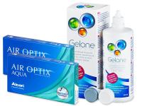 Air Optix Aqua (2x3lentes) +Solução Gelone360ml